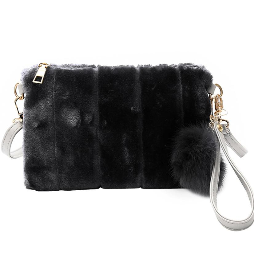 #50 FREESHIPPING Simulation Fashion Women Velour Personality Plush Bag Shoulder Bag Messenger Bags Tote Handbag HOT Sale Online