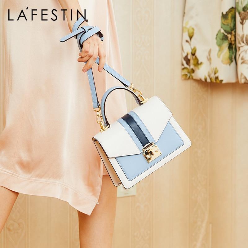 LA FESTIN New Women s bag Brand leather luxury handbag 2019 Classic geometric bag Fashion shoulder
