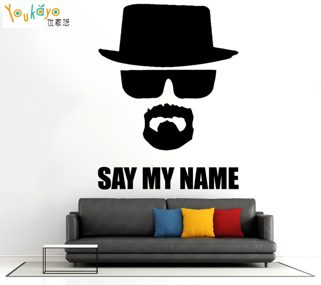BREAKING BAD Heisenberg SAY MY NAME Wall Stickers Home Decorationcar Door Decor