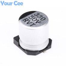 10 шт 50 V 330 мкФ SMD Алюминиевый Электролитический конденсаторы 10*10,2 мм