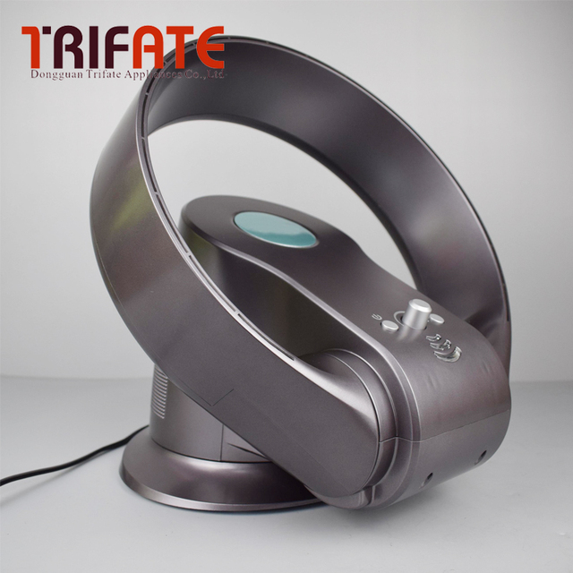 Charmant Drak Braun Tisch/Boden Elektrische Blattloser Ventilator Mit  Fernbedienung 110 V 220 V Kein