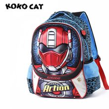 цены KOKOCAT Cartoon 3D Kids Children School Backpack Cool Hero Bags Boys Bookbag School Backpacks for Teens Boys Student Schoolbag