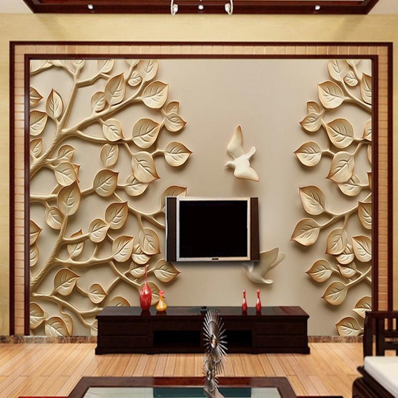 popular chinese wallpaper murals trees-buy cheap chinese wallpaper