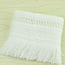 3yards / 7cm a lot of white cotton tassel lace sewing garment accessories