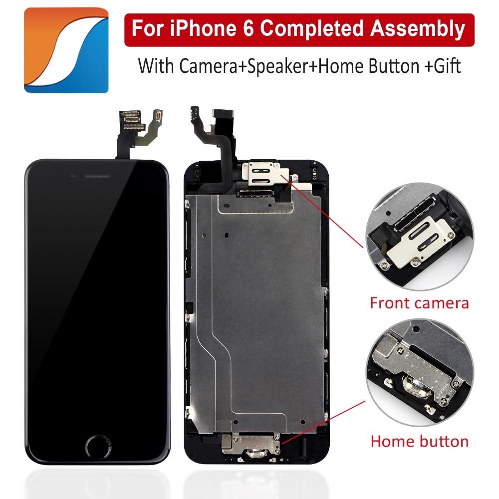 Полная сборка для iPhone 6 6S Plus, ЖК-дисплей с камерой, кнопка возврата для iPhone 6, 6S Plus, AAA + +, сменный дисплей