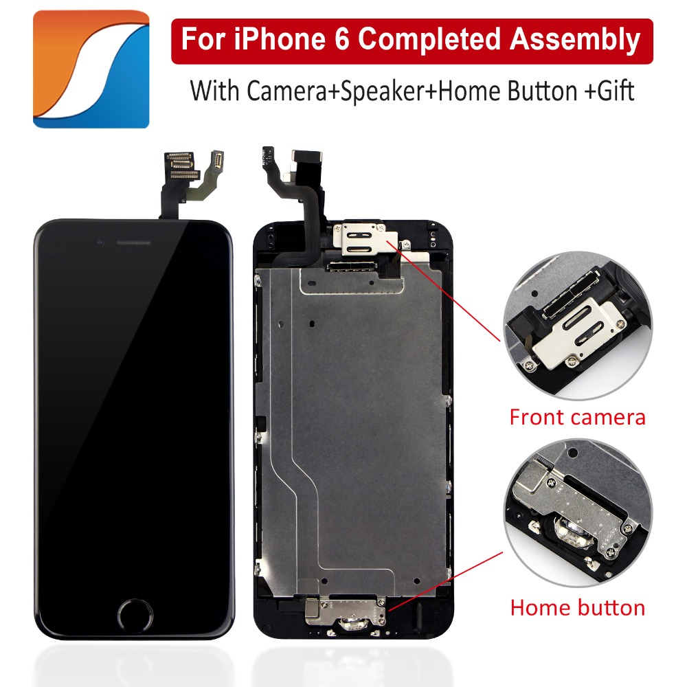 AAA+++ Full Assembly For iPhone 6 6S Plus LCD With Camera Home Button Completed For iPhone 5S Screen Replacement Display image