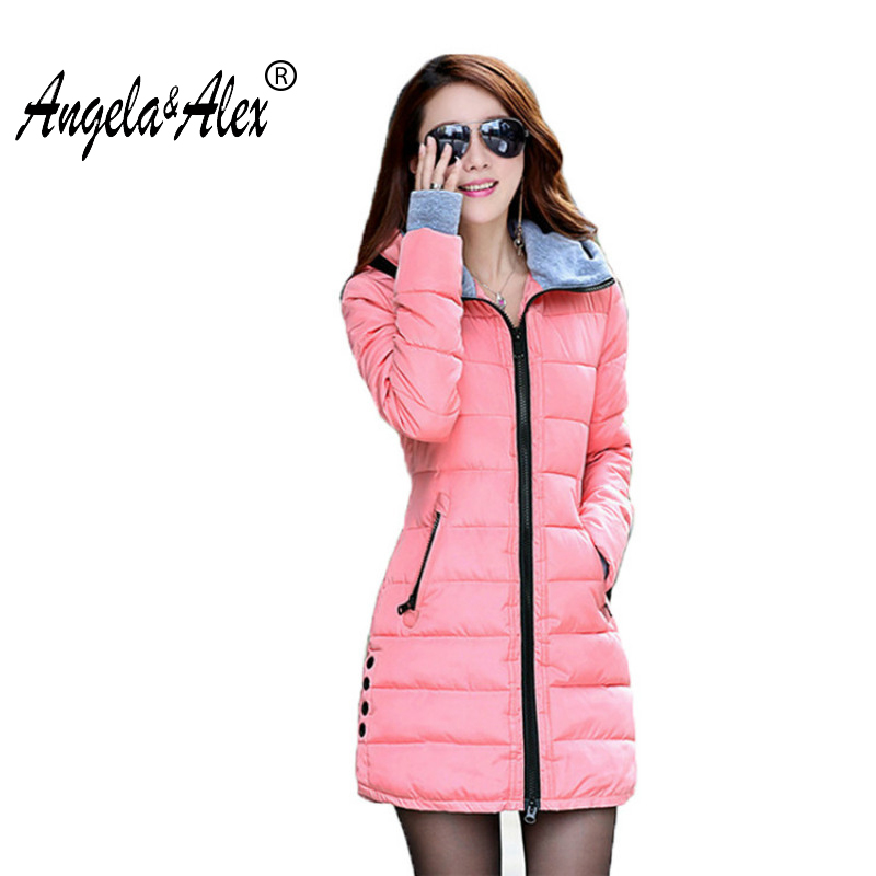 Winter Jacket Women 2017 New Female Parka Casual Long Coat Thin Quilted Padded Jacket Winter Warm
