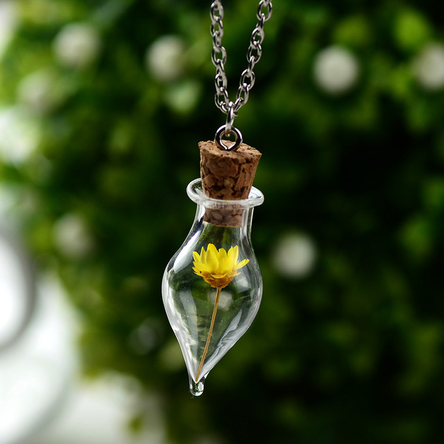 Hope Double sided personalized glass necklace