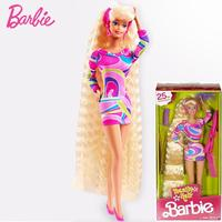 Original Barbie Totally Hair 25th Anniversary Doll For Girls Limited Christmas Birthday Gifts For Children Genuine Barbie Dolls