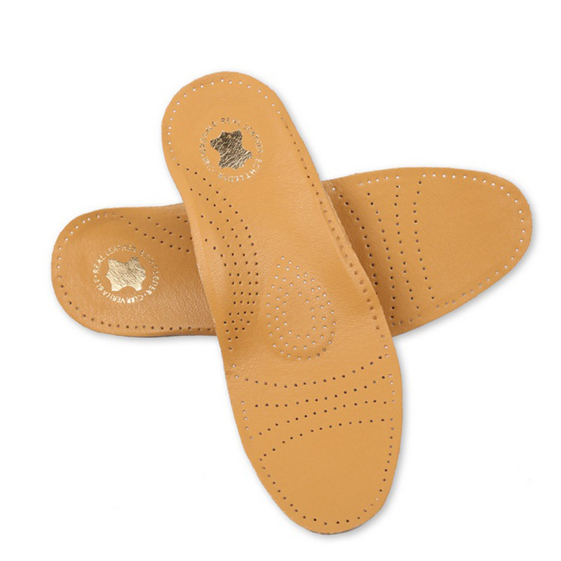 New Style Leather Arch Support Insole For Flat Feet Orthotic Insole
