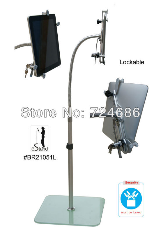 unversal 9 to 10.1 inch tablet lock floor stand with secure holder display bracket for Samsung/ Lenovo/ Acer/ Asus/ Toshiba