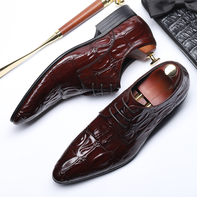 New luxury business dress casual classic mens shoes 2019 spring and summer fashion creative leather pointed crocodile weddingNew luxury business dress casual classic mens shoes 2019 spring and summer fashion creative leather pointed crocodile wedding