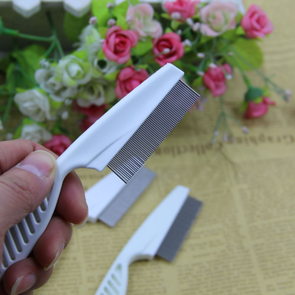 Durable Head Lice Combs With Handle Pet Cat Dog Hair Comb Clean Metal Fine Teeth