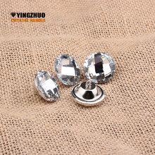 2018 Hot sale Furniture Decorative buckle 30mm Clear color Satellite drill soft package sofa buckle Rhinestones diamond buttons(China)