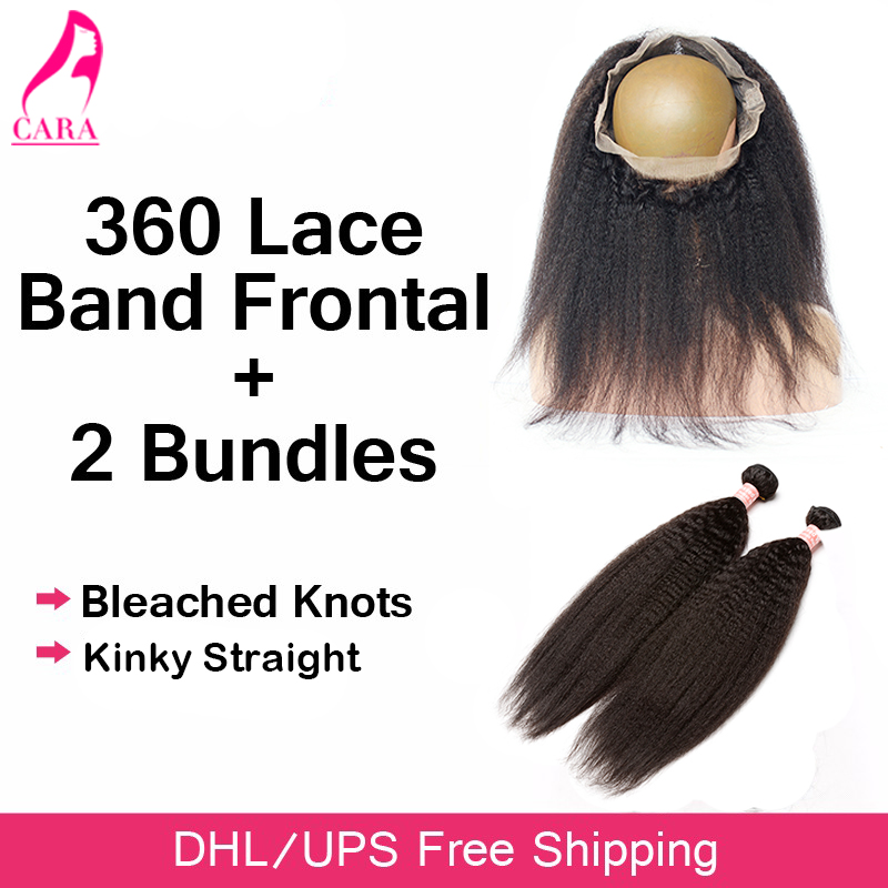 ФОТО 360 Lace Frontal With Bundle Malaysian Virgin Hair Kinky Straight With Closure Pre Plucked Rosa Queen Hair Products With Closure