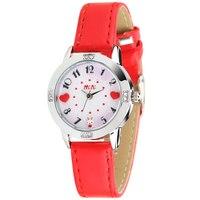 Original Korean Brand MINI Girls Handmade Clay Heart Rabbit Watch Children Real Leather Wrist Watch Quartz