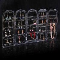 2017 New Arrival 5 Panels Jewelry Display Jewelry Organizer Earring Organizer Acrylic Jewelry Holder Makeup Jewelry