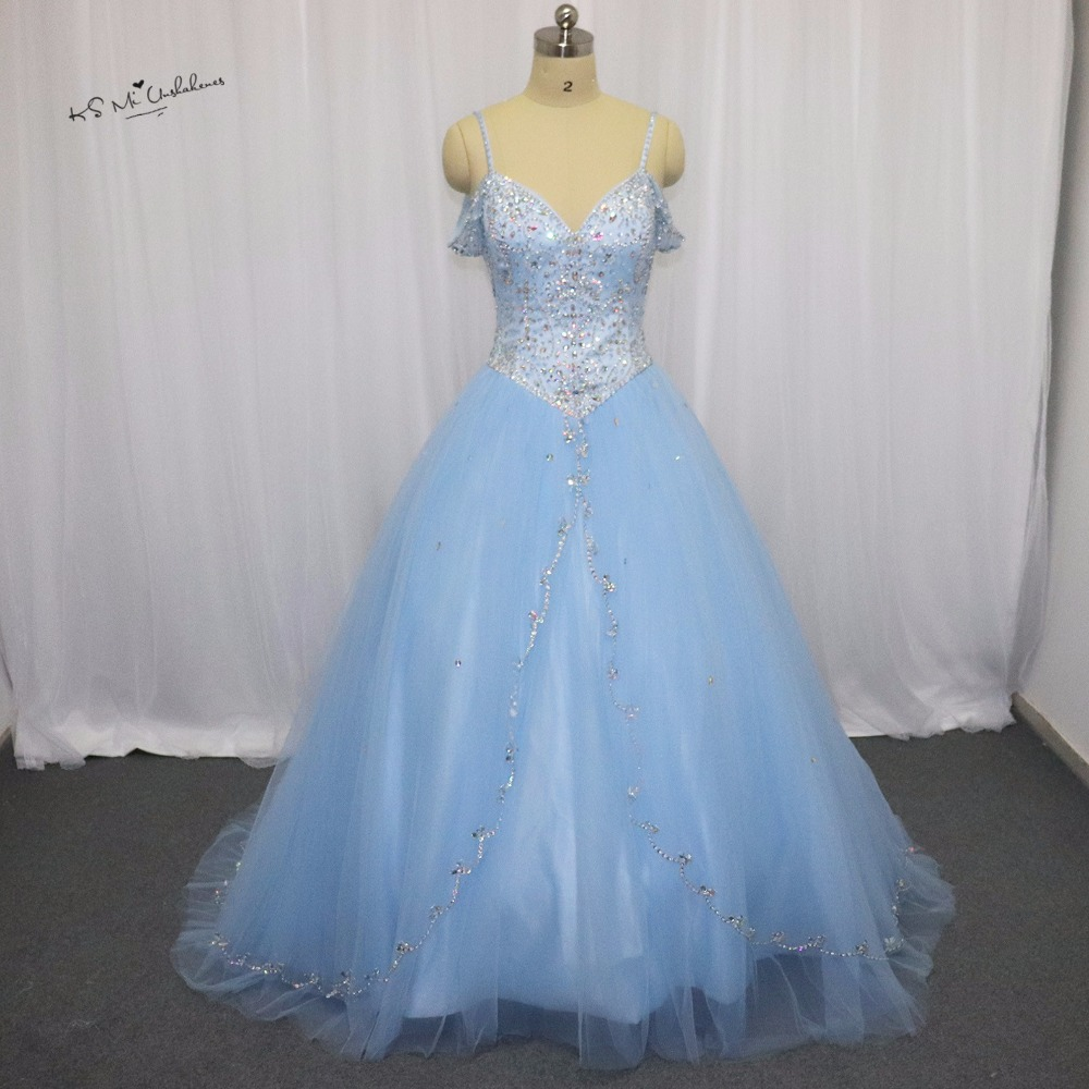2018 Cheap Quinceanera Gowns Sweet 16 Princess 15 Light Baby Blue ...