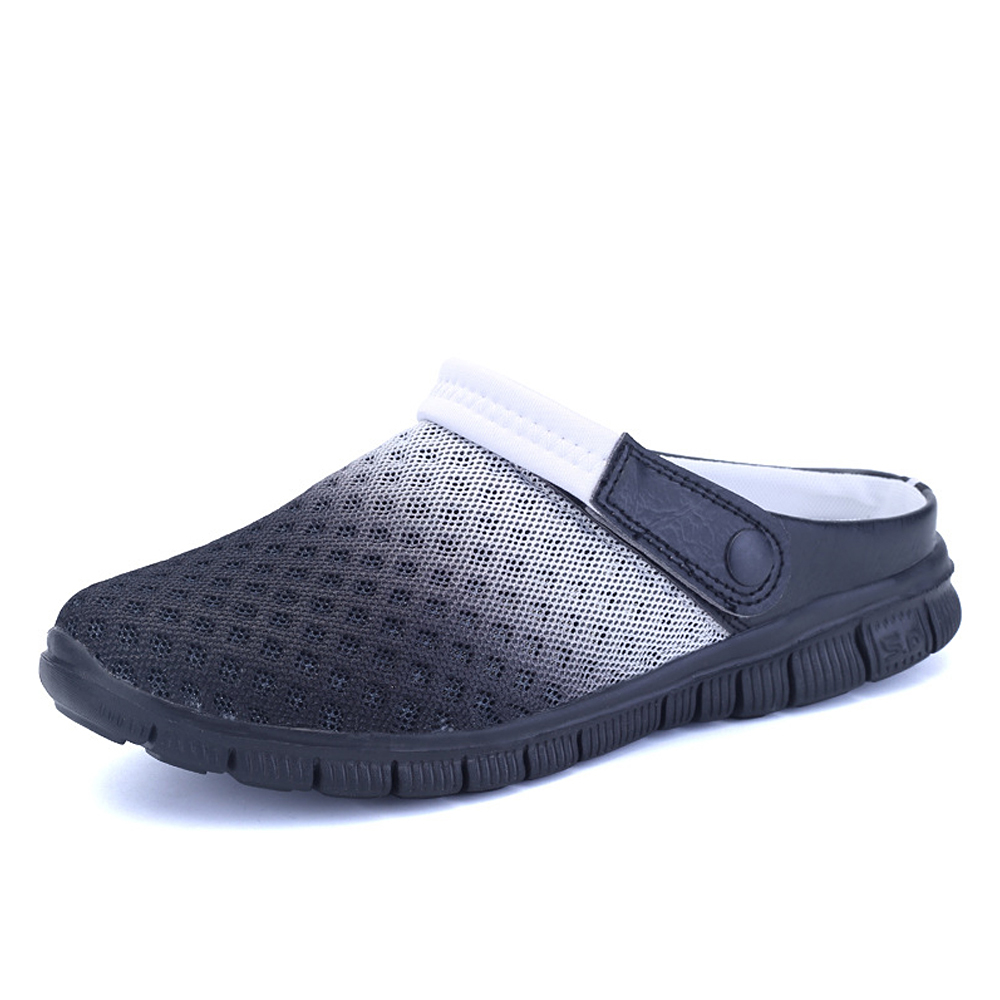 купить Men's Summer Shoes Sandals 2017 New Breathable Men Slippers Mesh Lighted Casual Shoes Outdoor Slip On Shoes Beach Flip Flops онлайн
