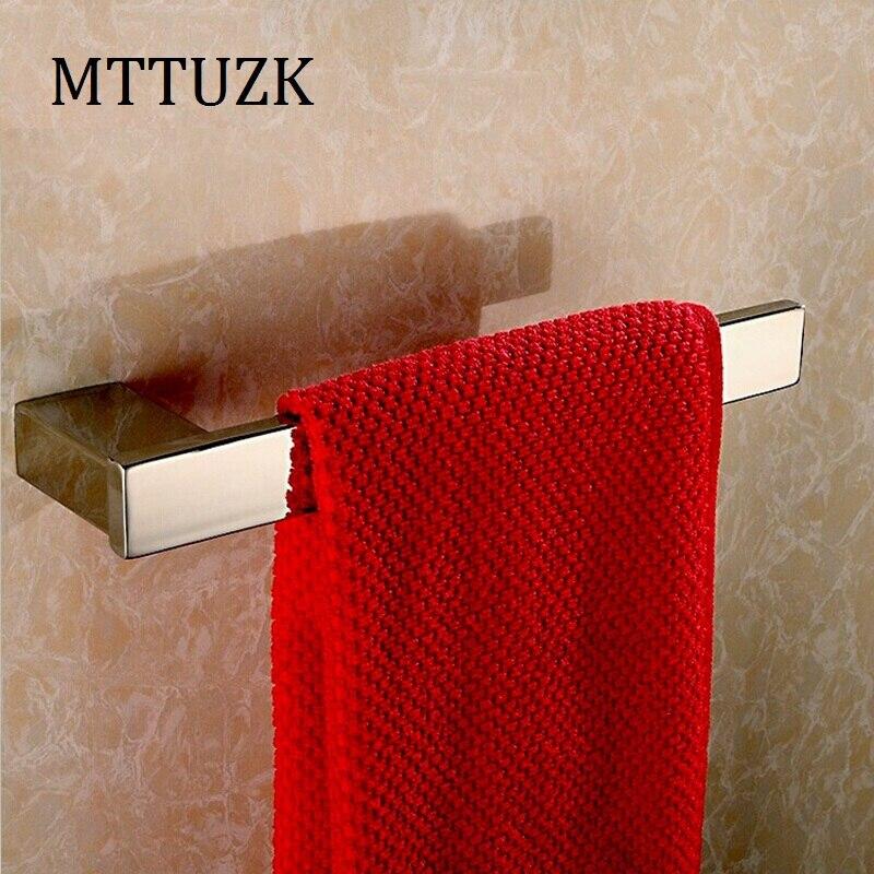 Free shipping Bathroom accessories 304 stainless steel towel bar square towel rack 304 stainless steel bathroom towel rack bar hangers more