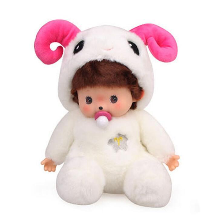 Hot Fashion Kiki doll 12 Colors plush dolls 20 CM Cartoon Monchhichi Animal Style Kids Baby Gifts monkiki Rabbit Teddy bear Toys guano apes saarbrücken