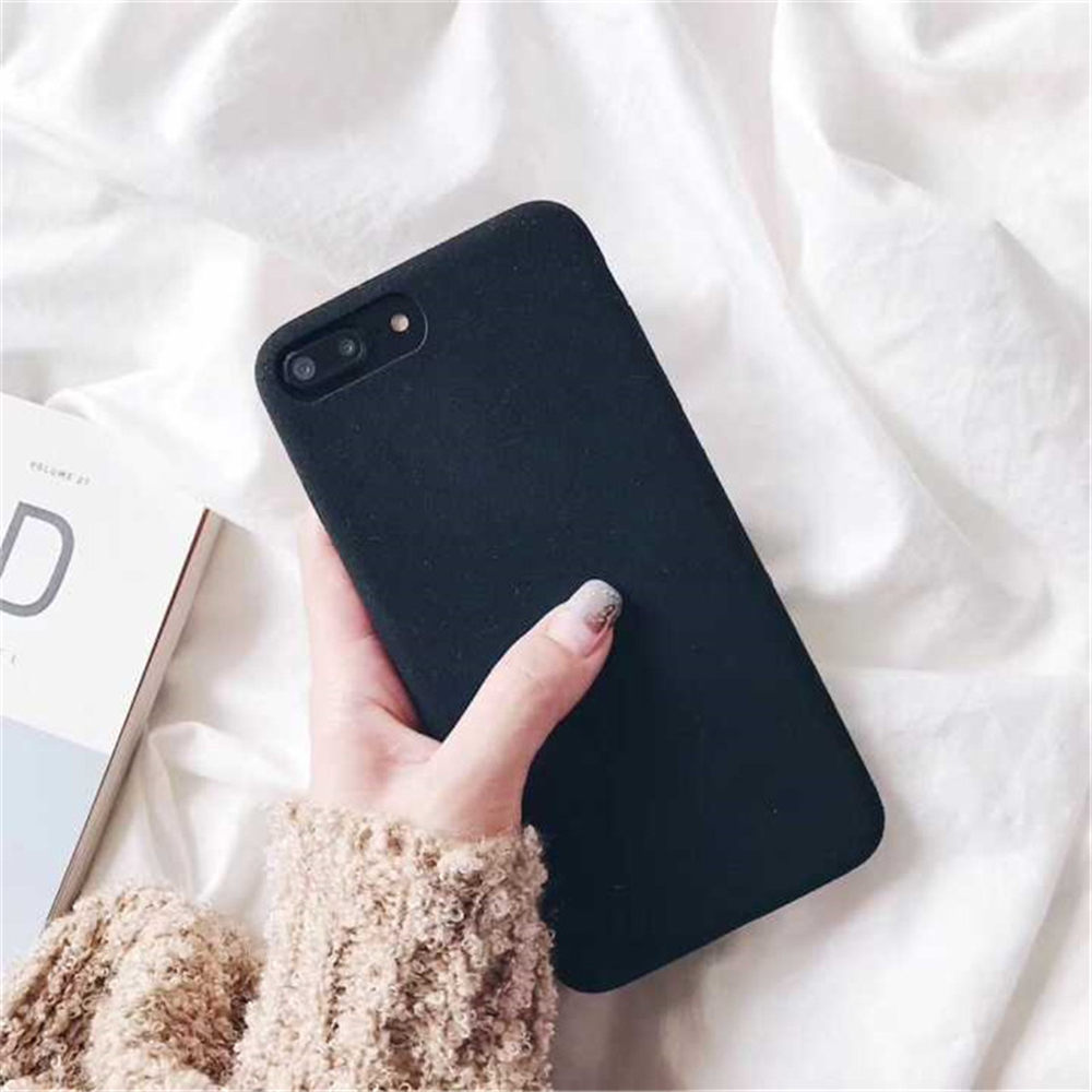 Soft Plush Phone Cases For Apple iPhone 8 7 6 6S Plus Coque For iPhone X XR XS Max Winter Warm Fur Furry Cover Shell Gift Fundas08