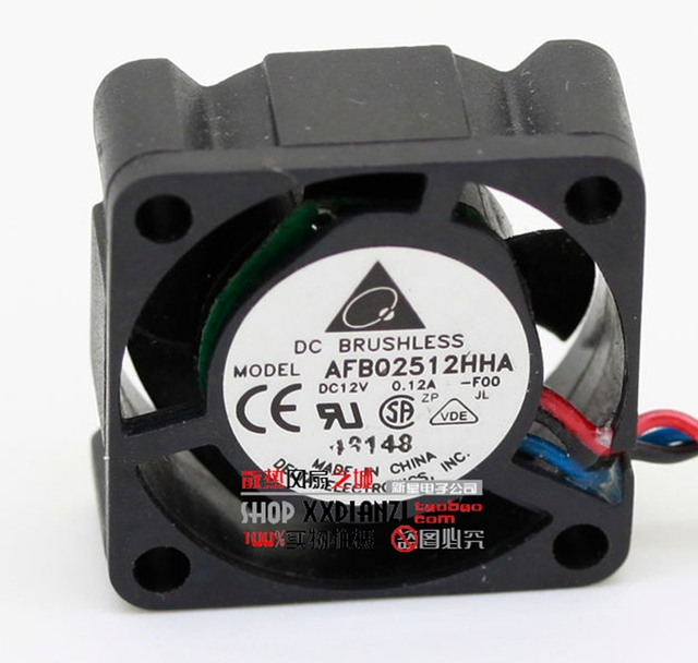 Original AFB02512HHA-F00 2510 0.12A 12V cooling fan