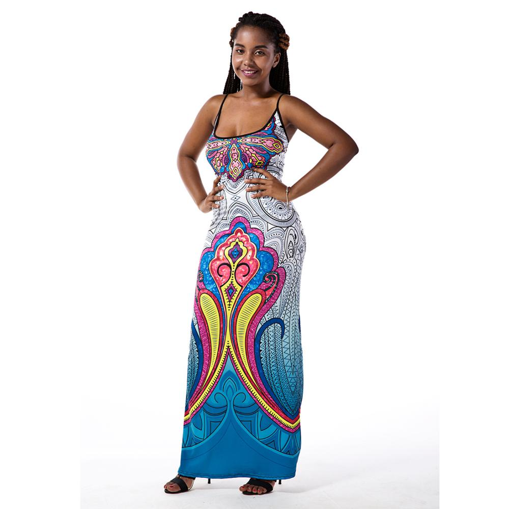 Hot sale long maxi dress summer bohimian sundress floor length dress women fashion dashiki - Dressing modellen ...