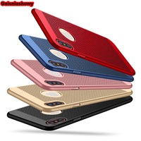 Ultra Thin Phone Case For iPhone 7 8 X 6 6s Plus 5 5s SE Hollow Heat Dissipation Hard PC Case For iphone XR XS MAX Case Cover