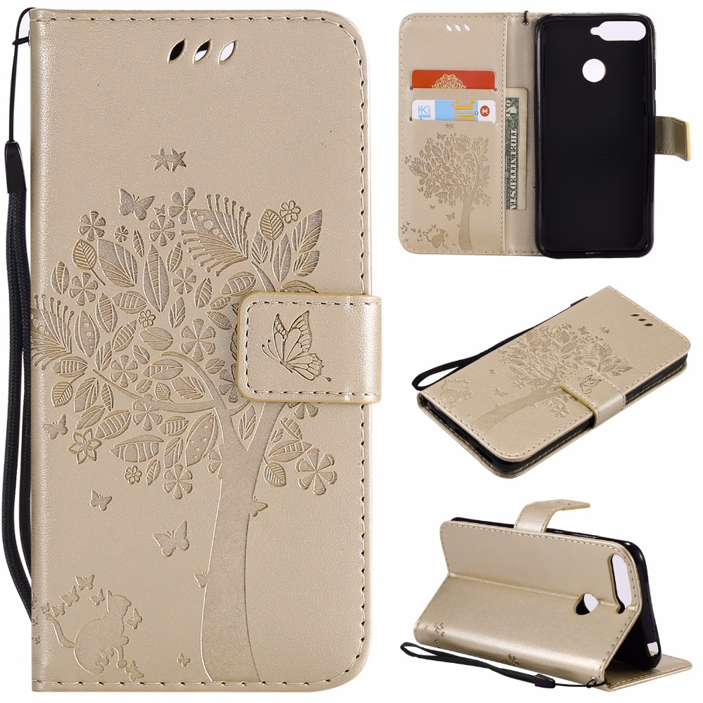 3d Tree Cat For Huawei Honor 7a Pro Aum-l29 Case Flip Pu Leather Stand Wallet Phone Cover Capa Honor 7a Honor7a Fingerprint Hole Pure And Mild Flavor