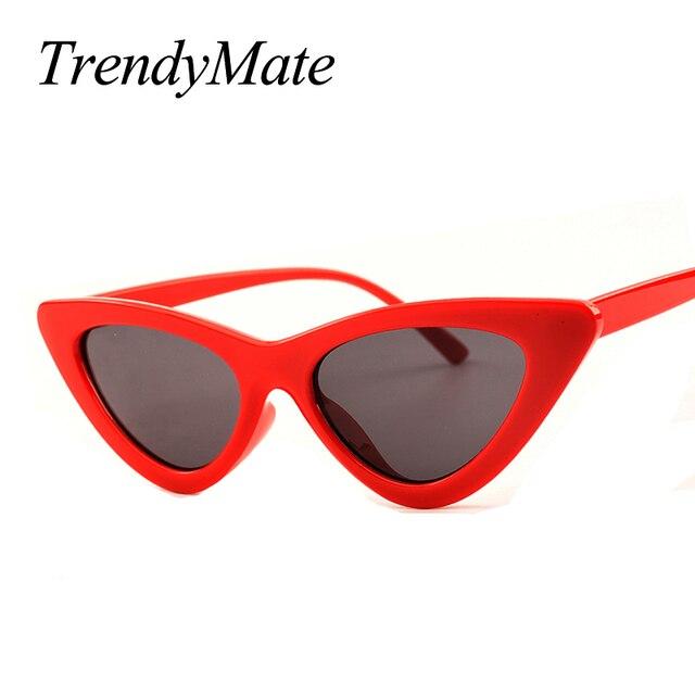 2018 Date Sexy Cat Eye lunettes de Soleil Femmes Marque Designer Lady  Lunettes de Soleil Pour 2c9efeaa5658