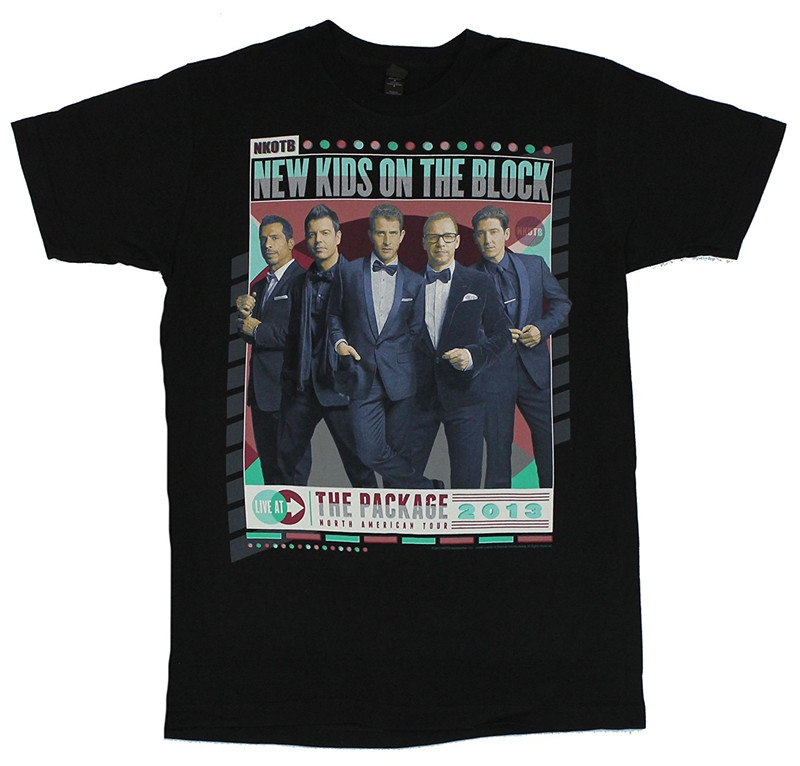 Biker T Shirts New Kids On The Block Nkotb MenS Cotton O-Neck Short-Sleeve Shirts