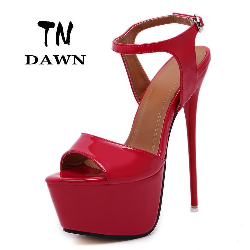 ФОТО New Style Sexy Buckle Women Super High Heels Ladies Fashion Pointed Toe Platform Thin Heels Sandal Stilettos Wedding Party Shoes