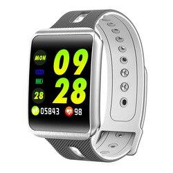 GT98 Astuto Della Vigilanza di Bluetooth 4.0 di Pressione Sanguigna Frequenza Cardiaca Braccialetto Impermeabile Uomini Della Vigilanza di Sport Delle Donne TFT Smartwatch TF1 Aggiornamento