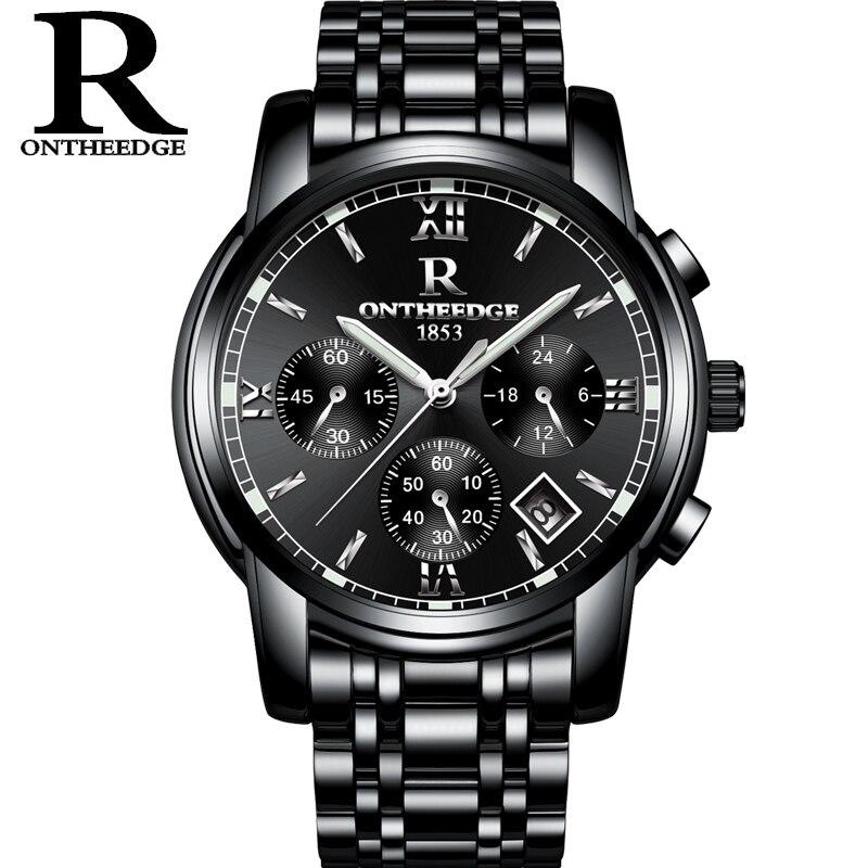e73abb8886e RONTHEEDGE Relógio Dos Homens Relógios Top Marca de Luxo Famoso Relógio De  Pulso Masculino Relógio de