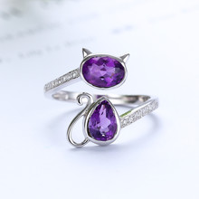 925 sterling silver plated natural amethyst purple crystal gemstone jewelry adjustable ring for women engagement party gift tbj natural african amethyst lady gemstone ring good luster amethyst ring for women in 925 silver gemstone jewelry gift jewelry