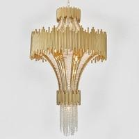 new item large crystal chandeliers modern hotel lobby lights AC110V 220V LED luxury lighting staircase light fixtures