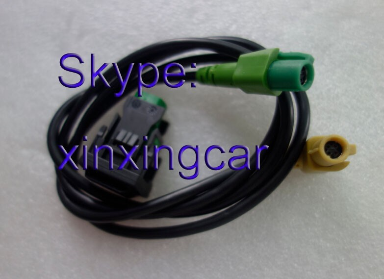 Free shipping 100% NEW OEM RCD510 <font><b>USB</b></font> CABLE For VW Golf Jetta MK5 MK6 <font><b>Passat</b></font> <font><b>B6</b></font> CC B7 AUDIO <font><b>USB</b></font> CABLE image