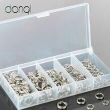 200 шт./лот, нержавеющая сталь, разъемные кольца для рыбалки, металлический соединитель для приманки, держатель для ключей, разъемные кольца, сплошное кольцо-петля для приманки