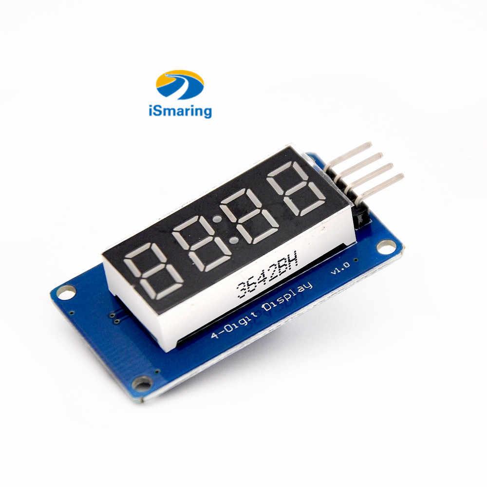 Officiële iSmaring TM1637 LED Display Module voor arduino 7 Segment 4 bits 0.36 inch klok rood anode digitale buis diy rc speelgoed kit E