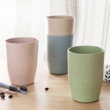 Скандинавском стиле кружка для путешествий офисная кофейная чайная бутылка для воды чашки Пшеничная солома пластиковая чашка для зубных щеток стаканы для ванной комнаты cajas хранение