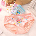 5PCS/LOT 2016 kids pants girls underwear panties kids pants carton modal lovely children's briefs 4-10years free  shipping