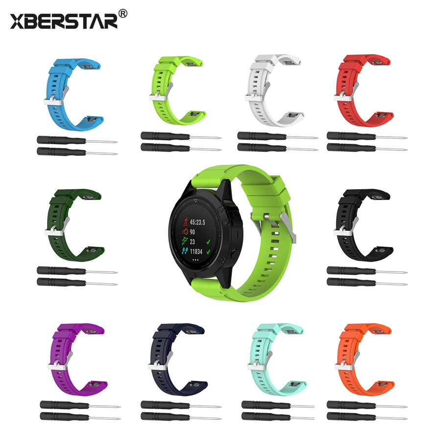 XBERSTAR Strap Watchband for Garmin Fenix 3 5X 3HR 3 Sapphire D2 Bravo Wuatix3 Tactix Bravo 26mm Sports Silicone Quick Release multi color silicone band for garmin fenix 5x 3 3hr strap 26mm width outdoor sport soft silicone watchband for garmin 26mm band