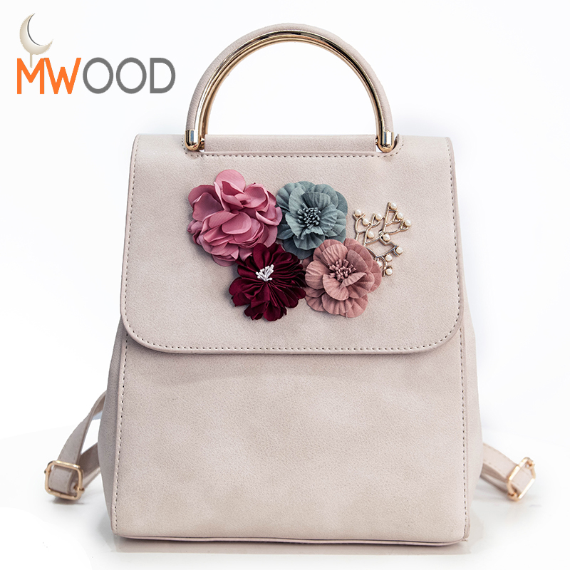 Brand Fashion Women Backpack Floral Women Shoulder Bags Schoolbag for Girls Teenagers Summer Solid Mochila Back Bag Pack