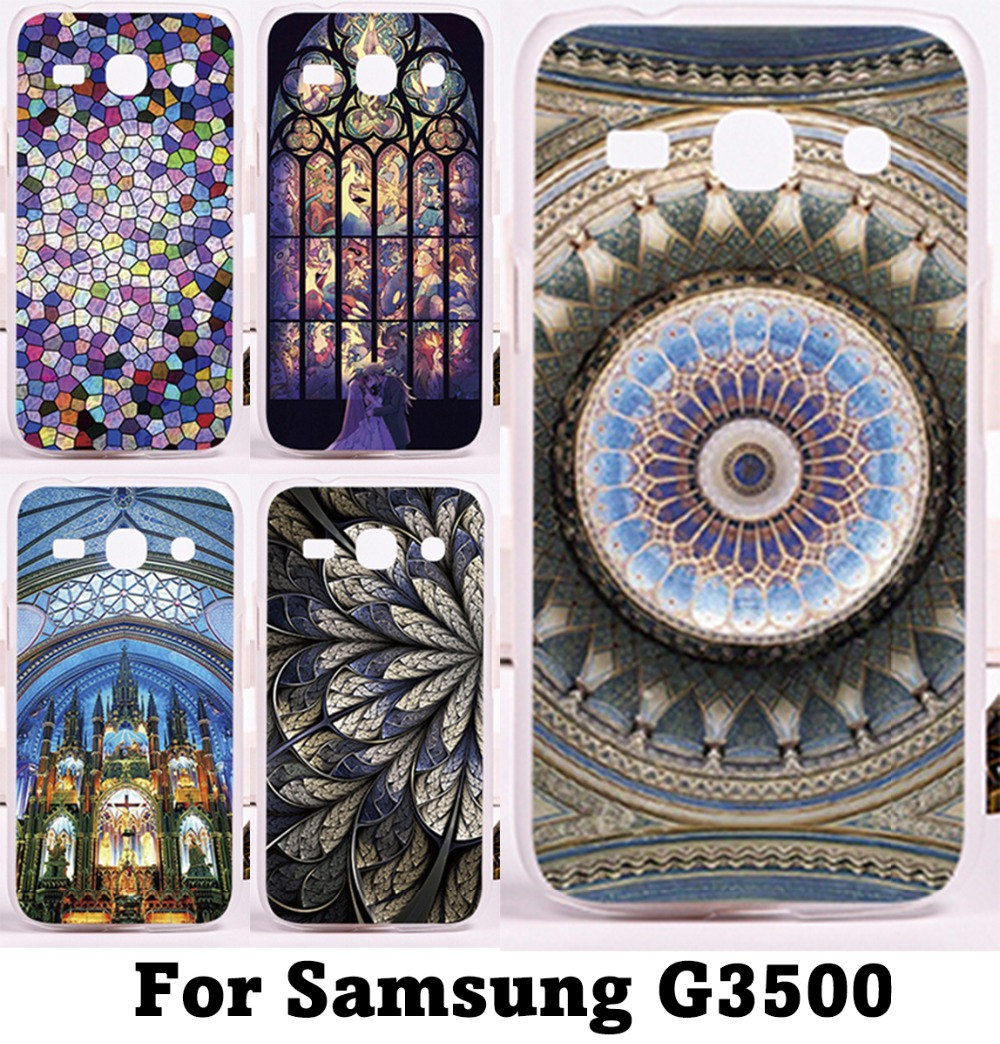 Phone Cases For Samsung Galaxy G3500 Case Amazing Geometric Design Colourful Church Roof Back Fashion Hard