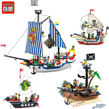 Enlighten Pirate Ship Series Royal Warships Compatible LegoINGs City Building Blocks Soldiers Creator Bricks Toys for Children