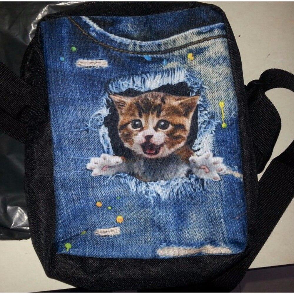 forudesigns pequenos sacolas denim dog Estilo : Kids Mochila Escolar