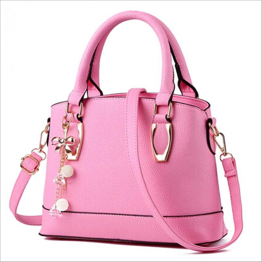 2017 New Bolsas Femininas Women's Handbag Women Shoulder Bag PU Leather Fashion Messenger bags Femme Sac A main Pink Beige Black
