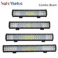 SufeMotec 5D 210 W 240 W LED İş Işık Bar LED Sürüş Sis Lambası Combo için Led Bar Araba Traktör Tekne OffRoad 4WD 4x4 Kamyon ATV SUV
