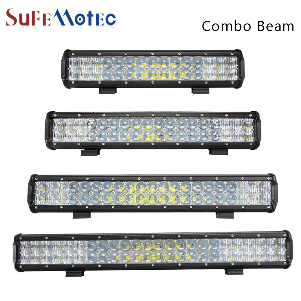 SufeMotec 5D 210W 240W LED Work Light Bar LED Driving Fog Lamp Combo Led Bar for Car Tractor Boat OffRoad 4WD 4x4 Truck ATV SUV 11 60w led work light bar for atv 4x4 combo led offroad light bar tractor offroad fog light work light seckill 36w 72w